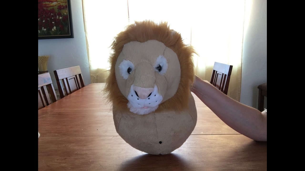 Wall Hanging Head Singing Lion Without Fur Youtube