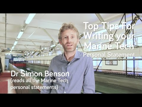 How to write a personal statement for Marine Technology