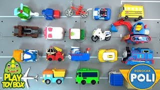 Learning Truck Van Vehicles Names & Sounds for kids with Tayo Poli Tomica Pororo Car Toys [KOR]