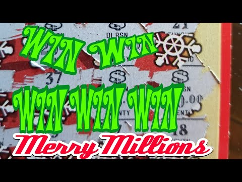 New $20 Merry MILLIONS. PA LOTTERY Christmas SCRATCH TICKETS