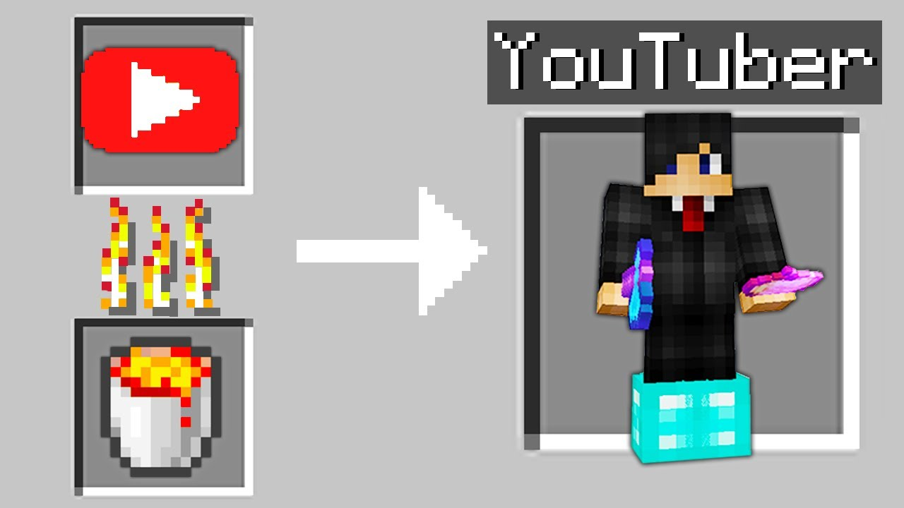 Minecraft, But You Can Smelt Youtubers...