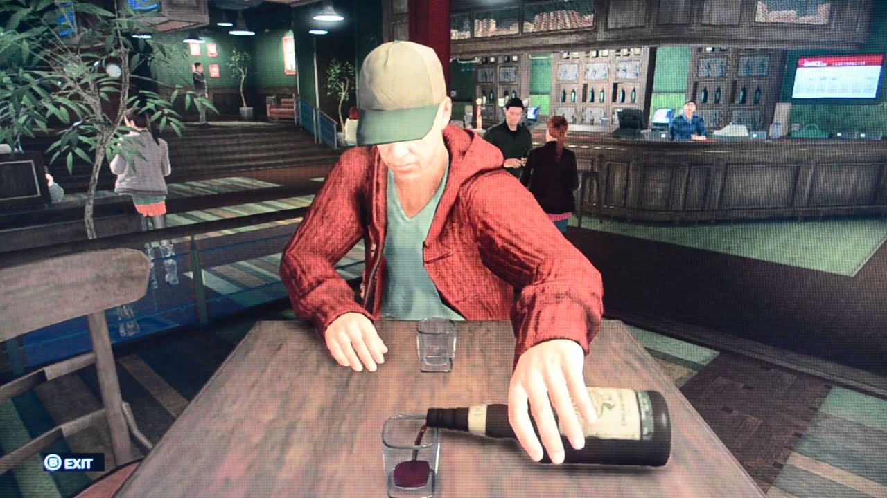 Getting drunk at the bar in watch dogs drinking game youtube for Food bar drinking game