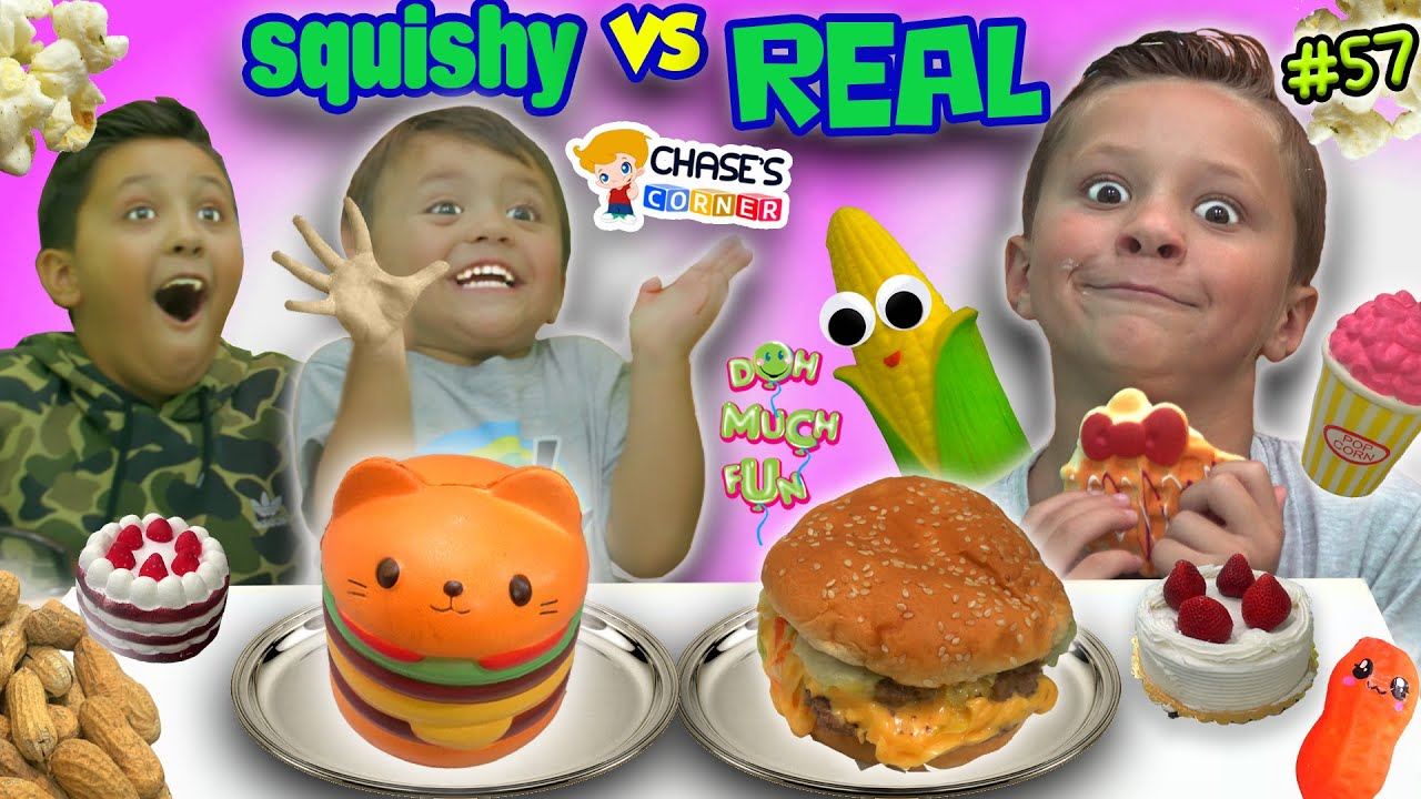 Download Chase's Corner: SQUISHY FOOD vs REAL FOOD Challenge! (#57)   DOH MUCH FUN