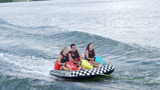 3 People tubing on the 2021 Connelly Daytona 3 Tube