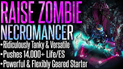 【Path of Exile 3.10 RDY】Zombie Necromancer –Build Guide– Fantastic League Starter | 14,000+ Life/ES!
