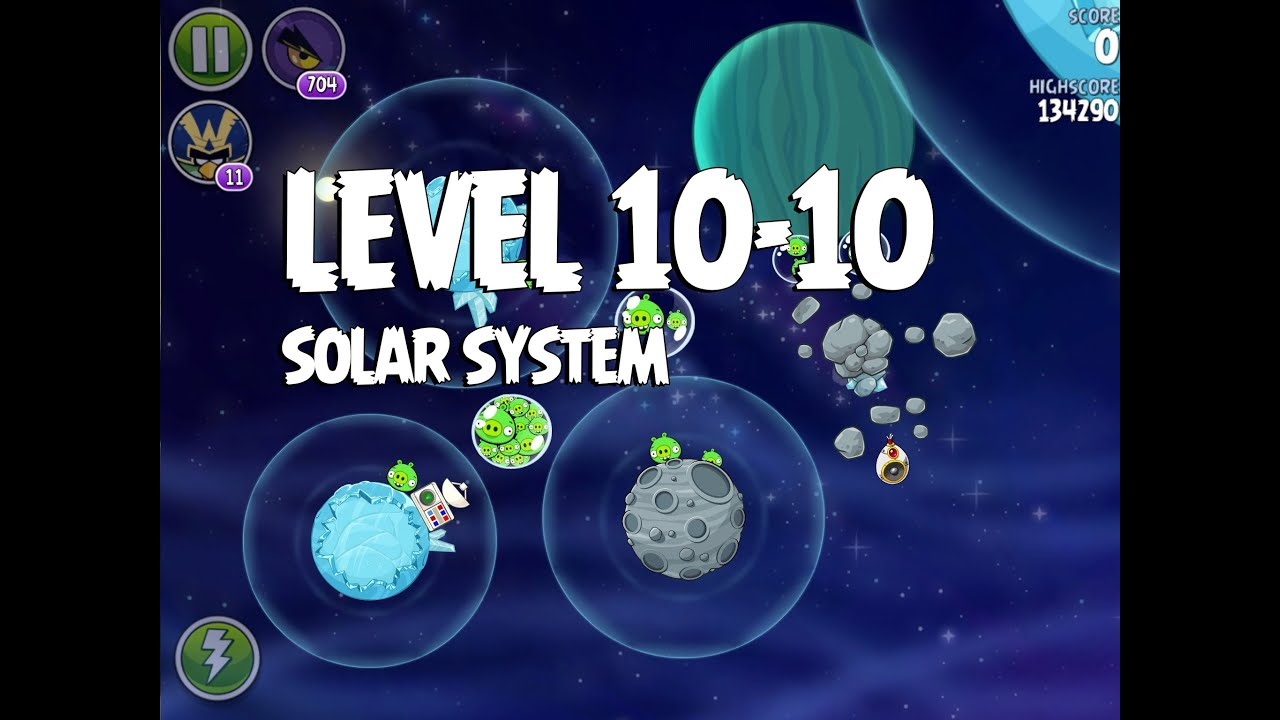 Angry Birds Space Solar System 10-10 Walkthrough 3 Star - YouTube