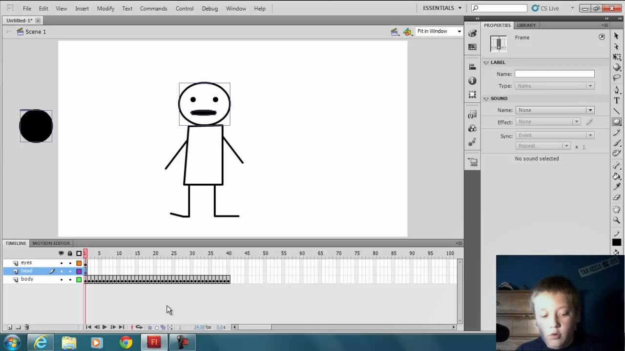 Flash Professional CS5 Beginner Tutorial [Animation Basics] - YouTube