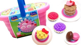 Peppa Pig Picnic Basket Play Doh Peppa Pig and Hello Kitty Pastry Shop Peppa Pig Toys