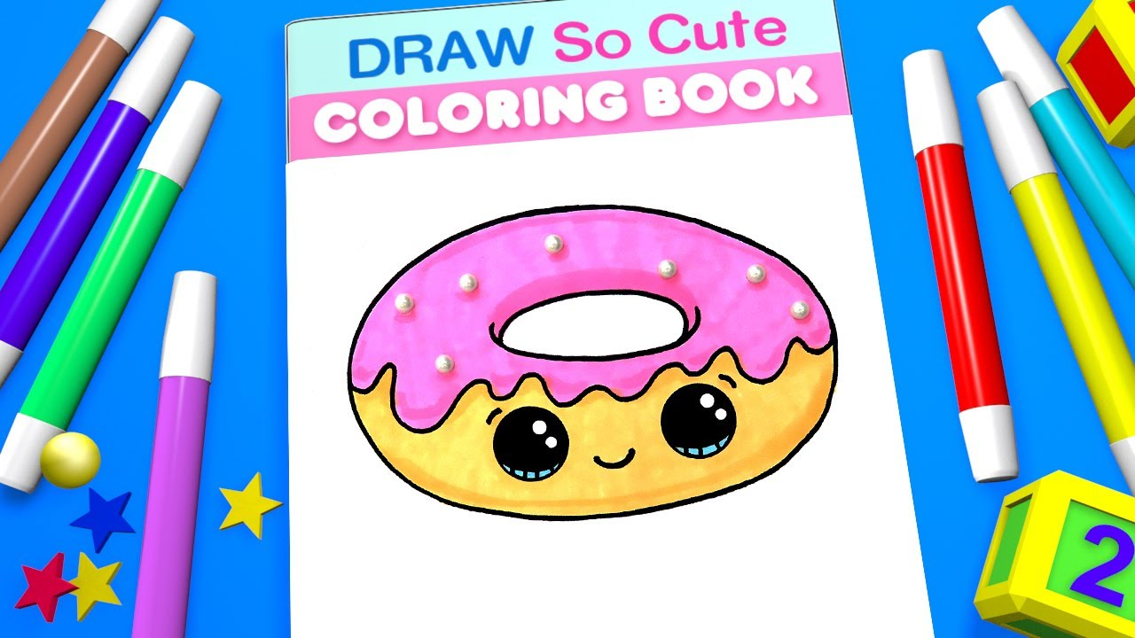 80 Top Cute Donut Coloring Pages Images & Pictures In HD