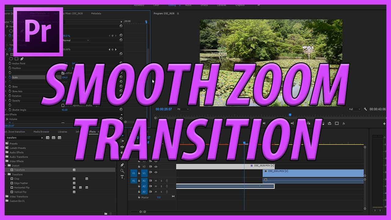 How to Make a Smooth Zoom Transition in Adobe Premiere Pro CC (2017)