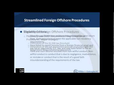 Game Changer: The New IRS Streamlined Domestic Offshore Procedure 6 27 14