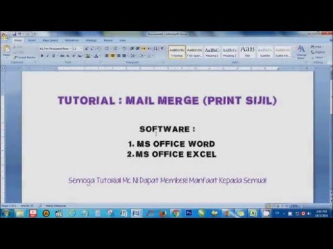 VIDEO TUTORIAL 3 : MAIL MERGE - YouTube