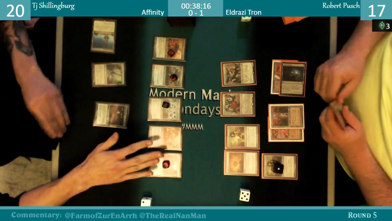 Modern Magic Mondays 2/19 Round 5 Affinity vs Eldrazi Tron #1