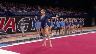 Stella Savvidou (UCLA) 2018 Floor vs Arizona (Exhibition - 9.825)