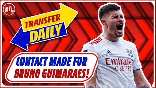 Arsenal Contact Lyon For Playmaker Bruno Guimaraes!   AFTV Transfer Daily