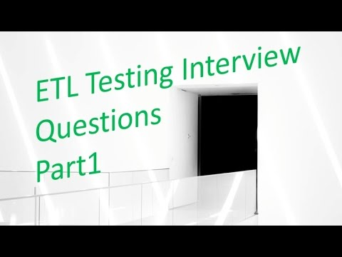 ETL Testing Interview Questions and Answers 1