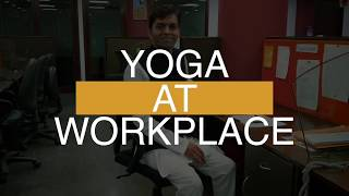 Yoga At Your Desk | Quick 5-Minutes Yoga For Workplace  | Life Positive
