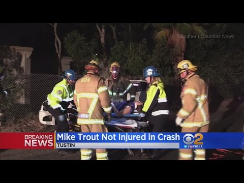 Angels Star Mike Trout Not Hurt In Crash That Seriously Injured 1