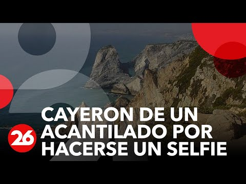Canal 26 -Selfie mortal: cayeron de un acantilado frente a sus hijos