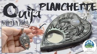 Ouija Planchette Pendant - Halloween Jewelry - Polymer Clay Tutorial with Stop Motion
