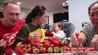 Vlog 389 ll Thử Thách Ăn 100 Trái Dâu Tây Với Bà Ngoại Jade :))