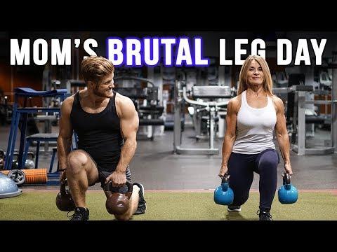 Brutal Leg Day With My Bodybuilder Mom!! (Informative)