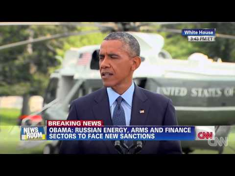 President Obama Announces New Sanctions Against Russia Over The Shot Down Malaysian Airlines Flight!