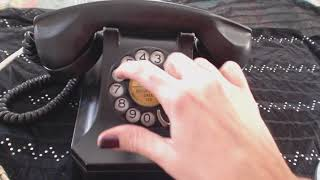ASMR ~ Dialing Antique Rotary Phone (w/Brief Whispered Intro)
