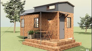 Perfect Cottage Tiny House Floor Plan By Woodyway Model