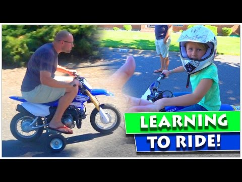 Teaching Kids To Ride Dirt Bike For The First Time