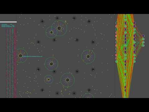 Genetic Algorithm plus Neural Net Agairo game simulation on GPU