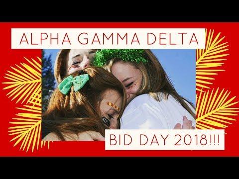 Alpha Gamma Delta Bid Day 2018 ll Georgetown College
