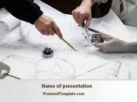 Mechanical Engineering PowerPoint Template by PoweredTemplate – Engineering Powerpoint Template