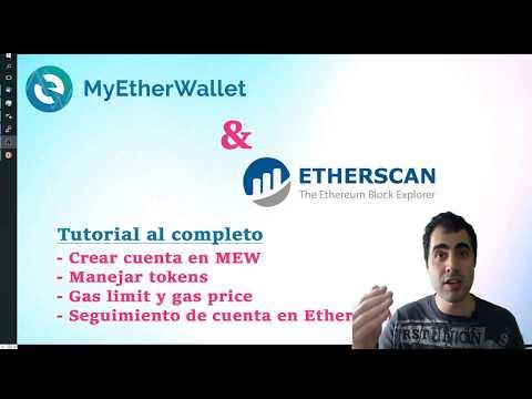 📢Tutorial Completo MYETHERWALLET Y ETHERSCAN Aprendiendo A Manejar Tokens Y Dominar Gas Limit/price
