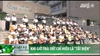 VTC14_TP HCM: Đồng diễn 1000 người cùng trẻ thiểu năng và guitar kêu gọi tiết kiệm điện