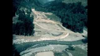 1984 aerial video of the Coquihalla Highway under construction