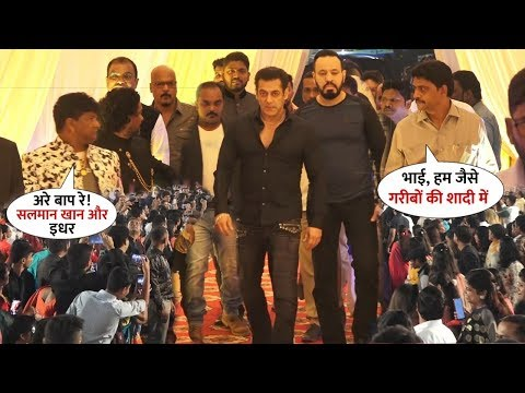 Salman Khan SURPRISE Macho Entry 4 His Poor Makeup Man Raju's Son Wedding | Everyone Was Shocked
