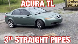 2006 acura tl exhaust w 3 inch straight pipes