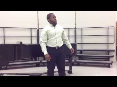 Christion Draper singing Warm as the Autumn Light by Douglas Moore.