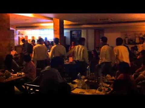 Amir@BBQ Nation Bangalore - Staff Dance