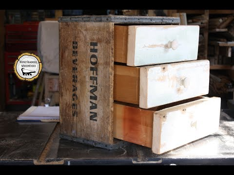 Woodworking : Reclaimed Lumber Storage Drawers