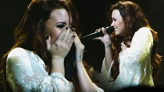 Times Demi Lovato Had An EMOTIONAL Breakdown LIVE On Stage!