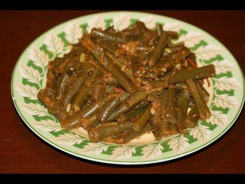 recette-entrée-chaude-aux-haricots-verts---moroccan-green-bean-saute-recipe---recettes-maroc