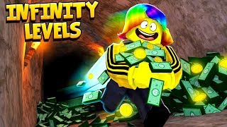 I got INFINITY LEVELS to escape THE ROBUX DUNGEON (Roblox Legends of Speed)