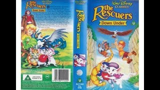 The Rescuers Down Under UK VHS opening and closing 1992