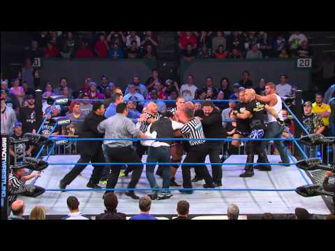 Kurt Angle brawls with Bobby Roode