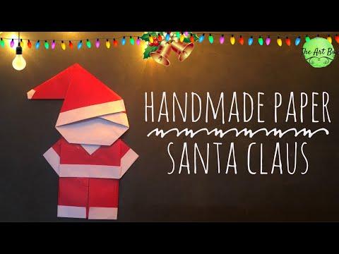 DIY paper SANTA CLAUS | Christmas decoration | handmade paper Santa Claus