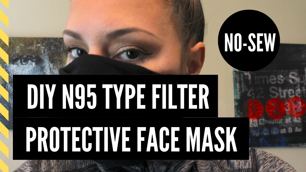 How To Make A No Sew DIY N95 Type Protective Face Mask | Coronavirus | Covid-19