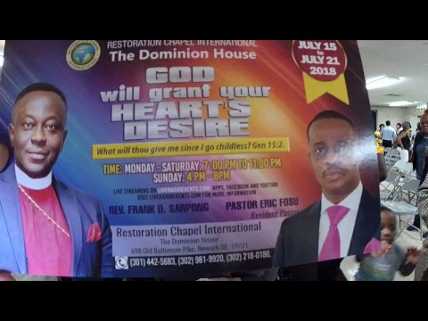Live Radio Events, Restoration Chapel Int. Delaware. Revival Day 4