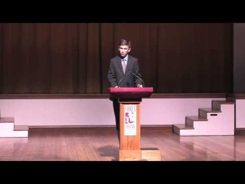National Oratory Fellow 2014: William Rowley